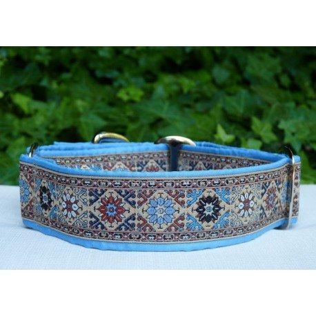 Collar martingale Camelot azul, herrajes