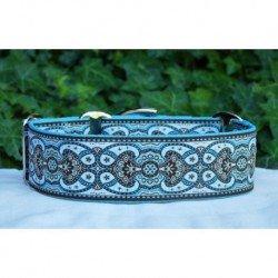 Collar martingale Amebas Turquesa con turquesa