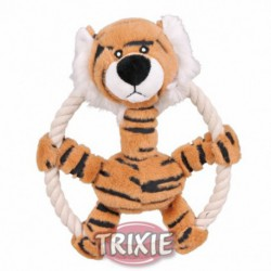Tigre con aro de cuerda