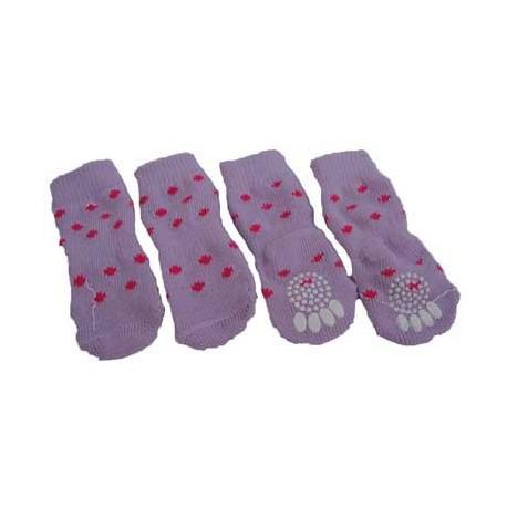 Calcetines rosas y fucsia