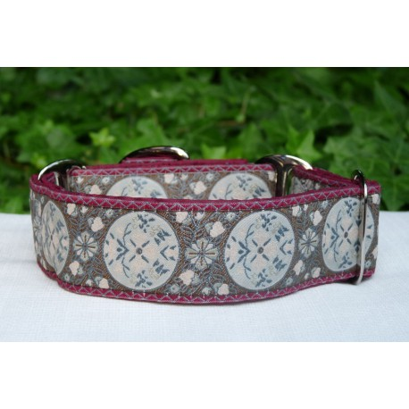 Collar martingale María Antonieta granate