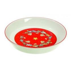 Comedero de cerámica navideño