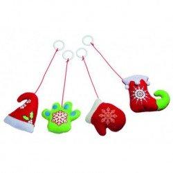 Colgantes navideños con catnip (2 uds.)