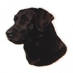 Pegatina de Labrador Retriever negro