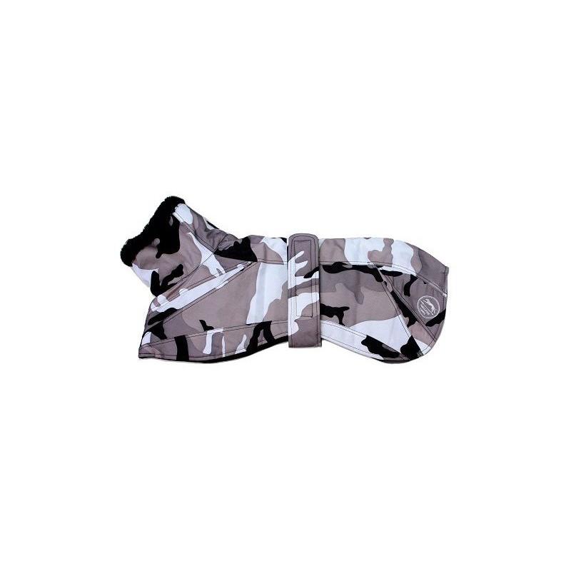 a7cd59148d241 Abrigo impermeable Camuflaje en tonos grises en Mimopets