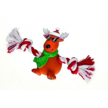Reno navideño con cuerda