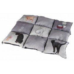 Manta cama Patchwork gatos