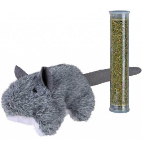 Ratón con catnip
