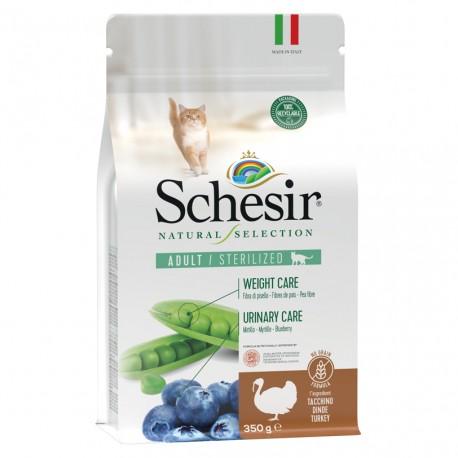 Schesir Natural Selection Gatos Esterilizados Pavo