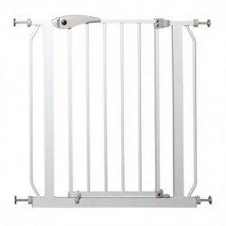 Barrera metálica con puerta