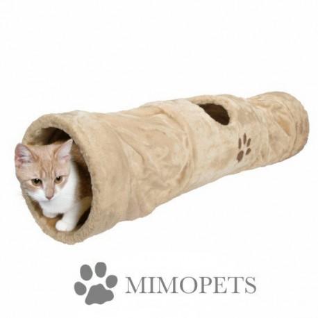 Túnel con crujido de felpa para gatos