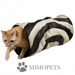 Túnel con crujido para gatos
