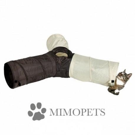Túnel para gatos con 3 tubos
