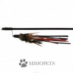 Varita con plumero de cuero y plumas