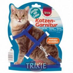 Set de arnés y correa de nylon para gatos