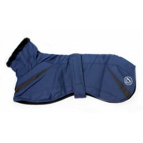 Abrigo impermeable azul