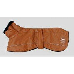Abrigo impermeable piel sintética