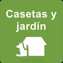 Casetas y jardín