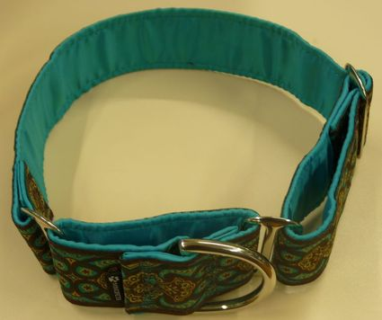 Color real del collar martingale Amebas Agua de Mimopets