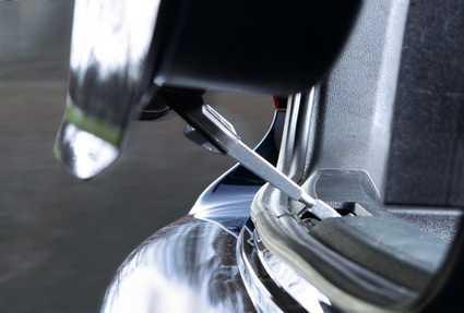 El aireador de maleteros ya instalado en el coche