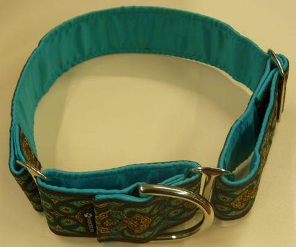 Color real del collar martingale Amebas Agua de Mimopets