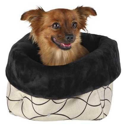 Cama Nicki con un perro en su interior
