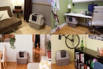 Ejemplos de lugares donde colocar el arenero automático SmartSift