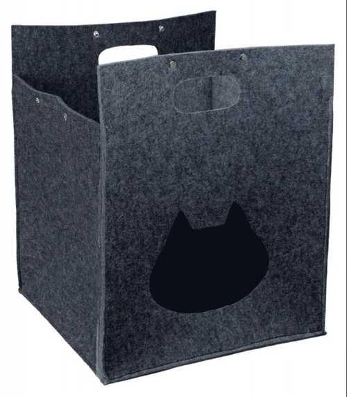 Cueva para gatos con forma de bolsa fabricada en felpa