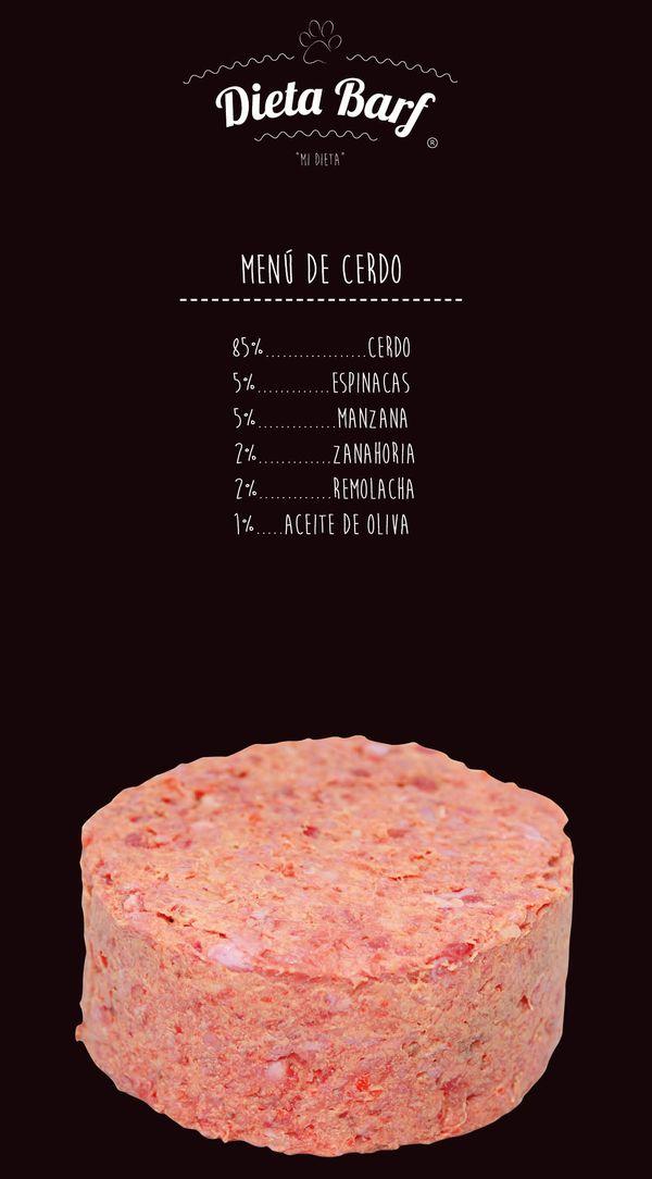 Dieta Barf de cerdo para perros
