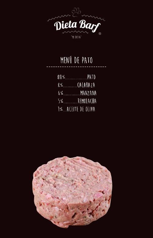 Dieta Barf de pato