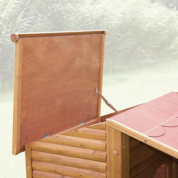 Tejado abatible de la caseta Natura con porche