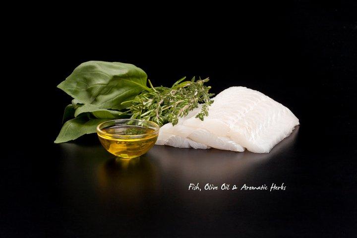 Galletas sin cereales Naturea de pescado, aceite de oliva y hierbas aromáticas.