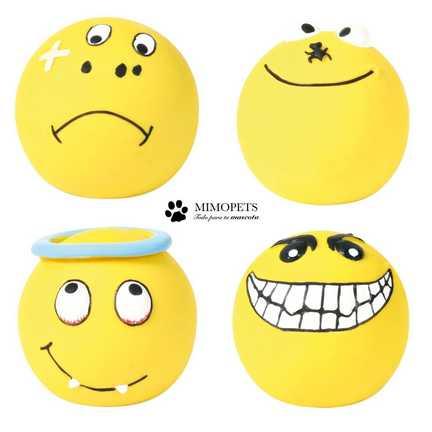 4 Pelotas de latex amarillas en Mimopets