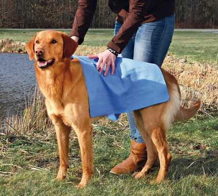Toalla super absorbente para secar al perro