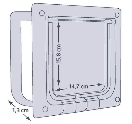 Medidas de la trampilla Trixie de 4 posiciones para puerta de cristal